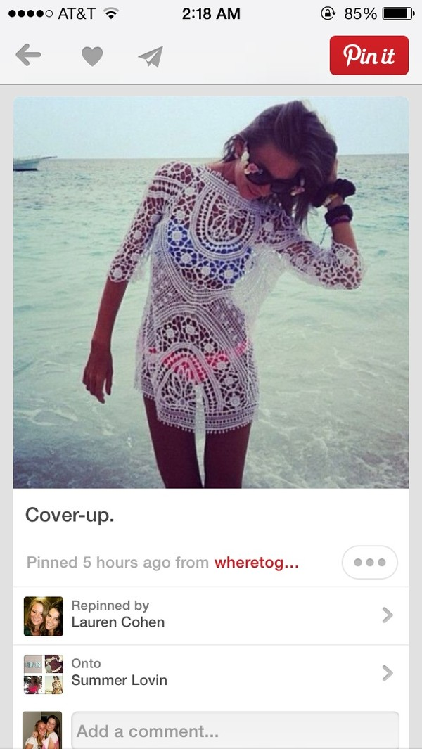 dress cover up blouse white lace swim suit cover