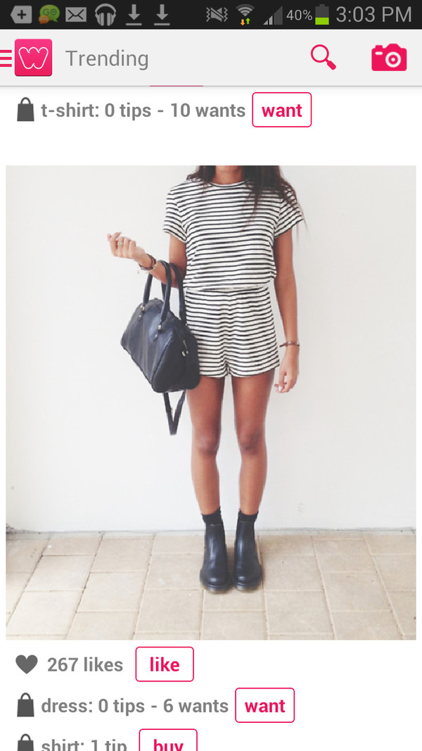 romper jumpsuit black and white stripes clothes dress