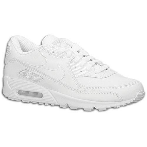 Nike Air Max 90  - Boys' Grade School - Running - Shoes - White/White