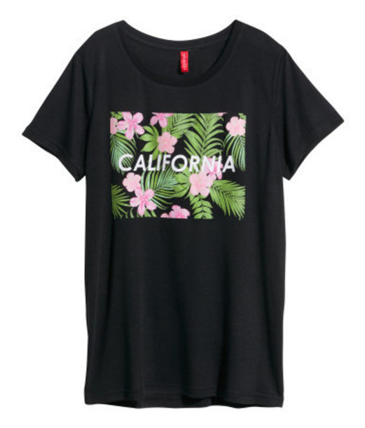 shirt black fashion quote on it flowers california