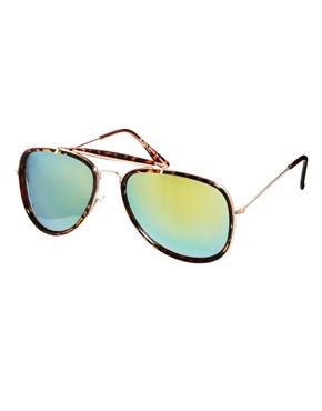 ASOS   ASOS High Bar Aviator Sunglasses With Mirrored Lens at ASOS