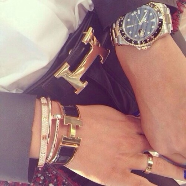 jewels watch gold chique hermes belt bracelets classy