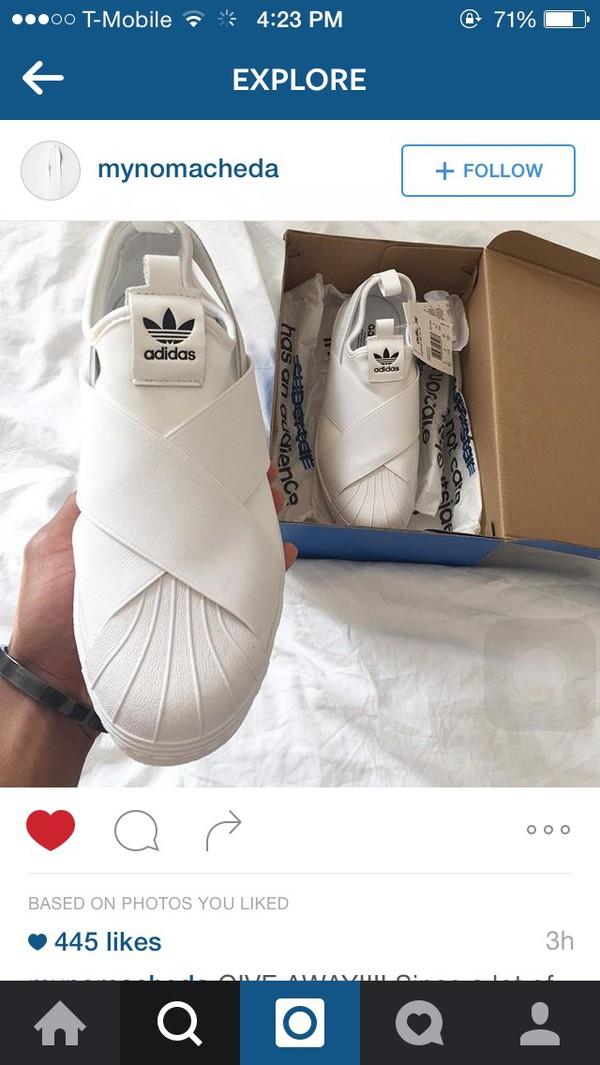 finest selection 10f3a 8b6d3 adidas superstar slip on women white