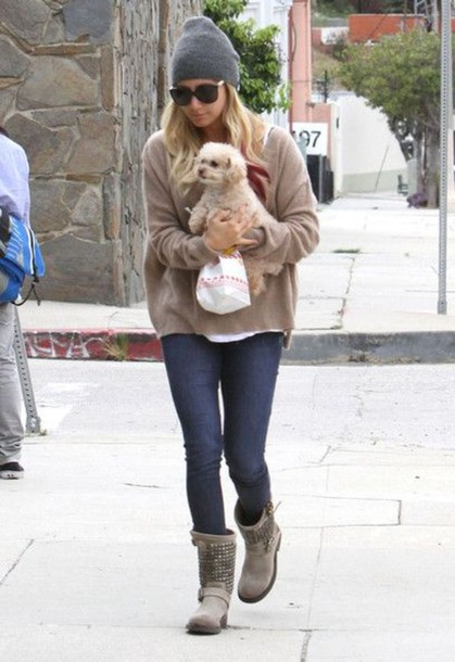 shoes boots studd ashley tisdale sweater