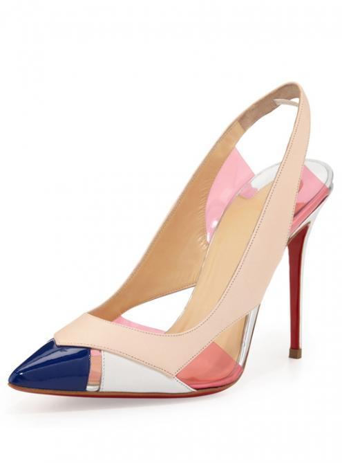 Fashion Colorblock High-heels Sandals YSY172$179
