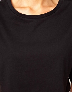 ASOS   ASOS Crop T-Shirt with Wide Sleeve at ASOS