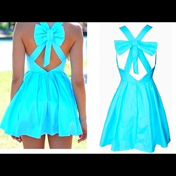 dress mint bows tumblr clothes