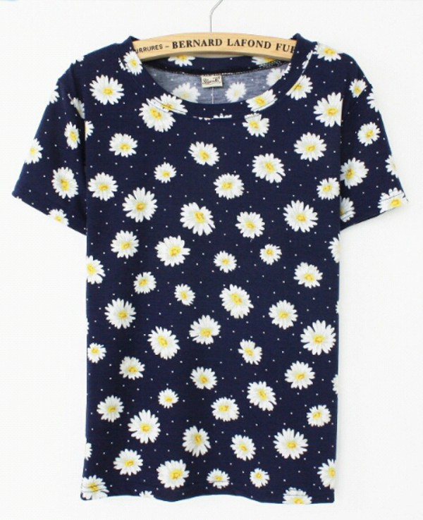 t-shirt flowers daysies