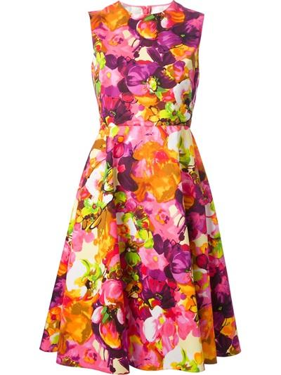 Valentino Floral Print Dress - Al Duca D'aosta - Farfetch.com