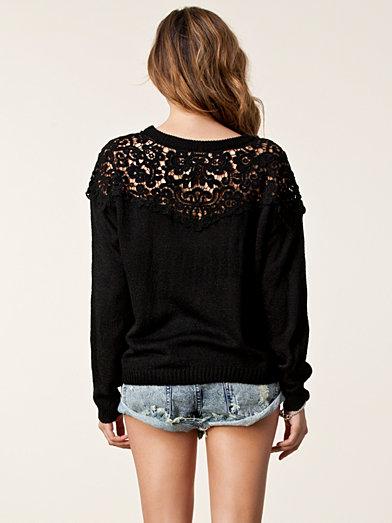 Fabia Sweater - Jeane Blush - Black - Jumpers & Cardigans - Clothing - Women - Nelly.com Uk