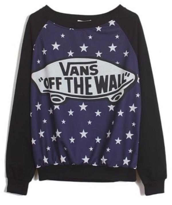 sweater vans vans black stars