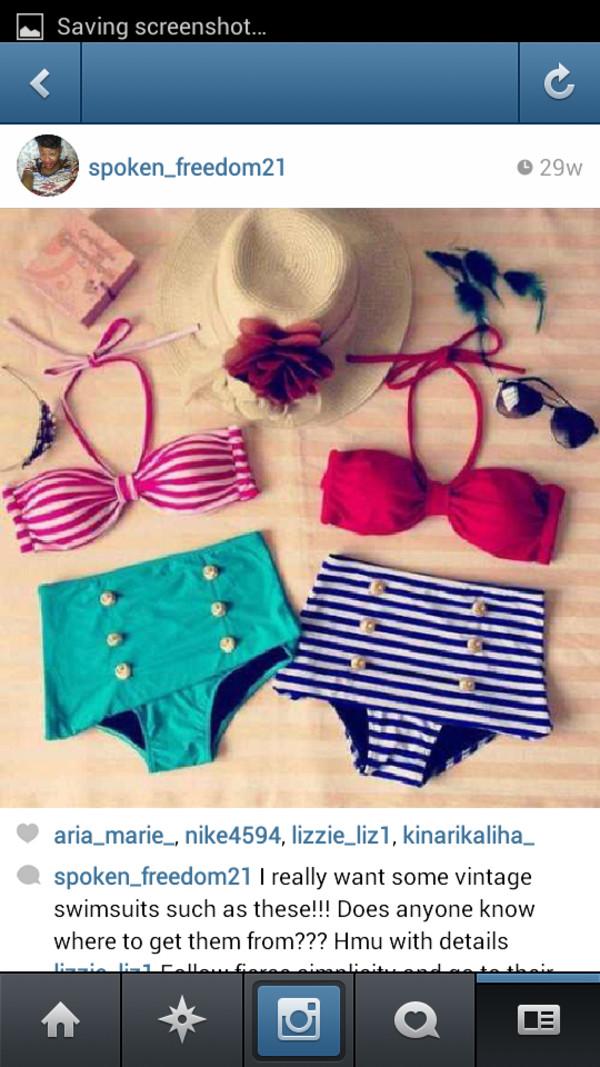swimwear vintage swimwear high waisted bikini
