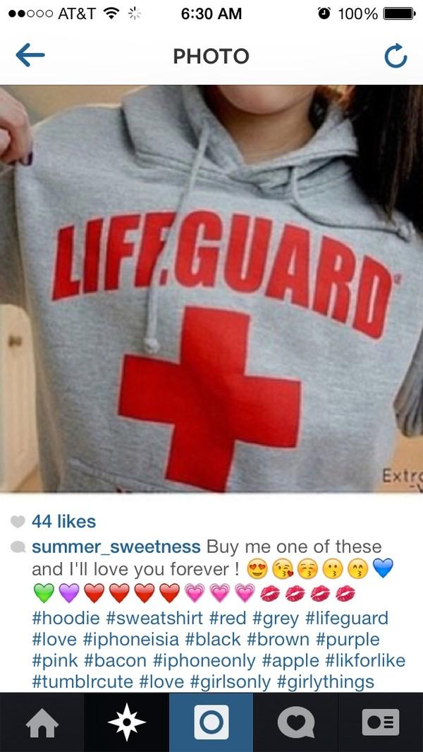 sweater lifeguard beach instagram swimwear