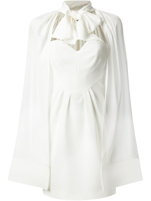 dress moschino strapless dress heart dress white dress