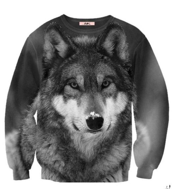 sweater aweatshirt wolf