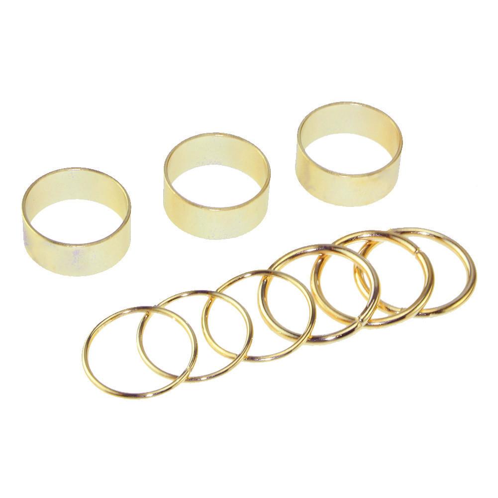 GOLD RINGS SET – HolyPink