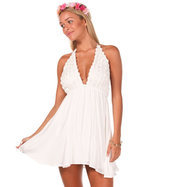 dress daisy white flowers floral dress daisy daisy dress white dress short party dresses party dress white flowers halter dress halter neck halter neck dress casual dress