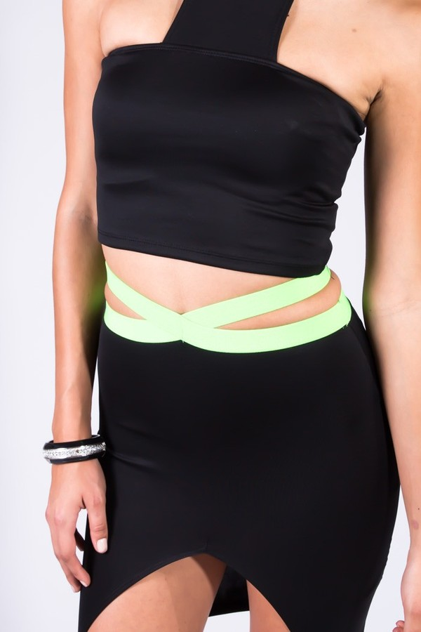 skirt clothes skirt cut-out neon