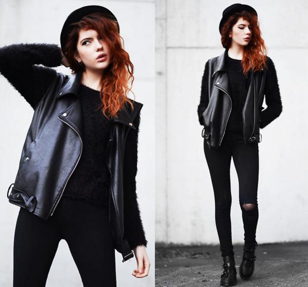 coat leather vest faux vest
