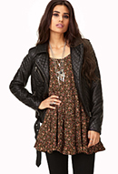 Moto Chic Faux Leather Jacket | FOREVER21 - 2079421066