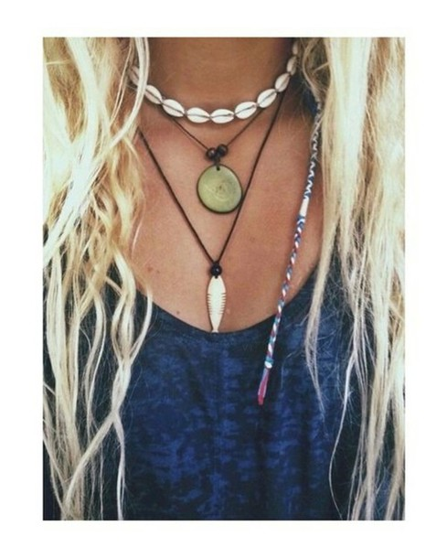 jewels shirt necklace buddhism tooth dreadlocks bohemian native american