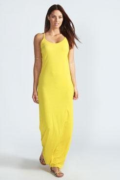 Hayley Strappy Scoop Neck Maxi Dress at boohoo.com