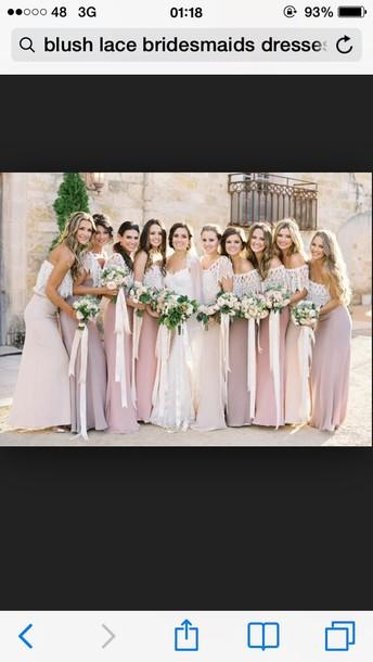 dress blush dresses