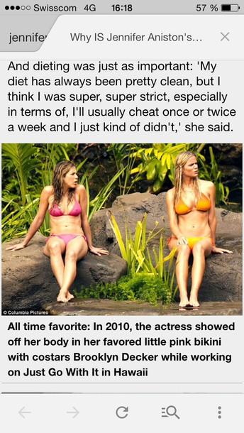 orange jennifer aniston brooklyn decker bikini