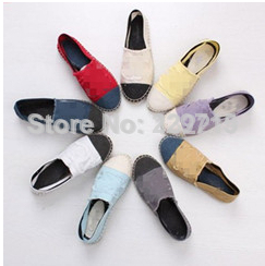 women flats new 2014 spring luxury brand espadrille flat canvas shoes women shoes size 35 42-in Flats from Shoes on Aliexpress.com