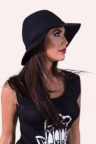 hat black cool trendy fashion summer spring free vibrationz
