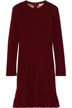 Pleated jersey dress   Carven   56% off   THE OUTNET