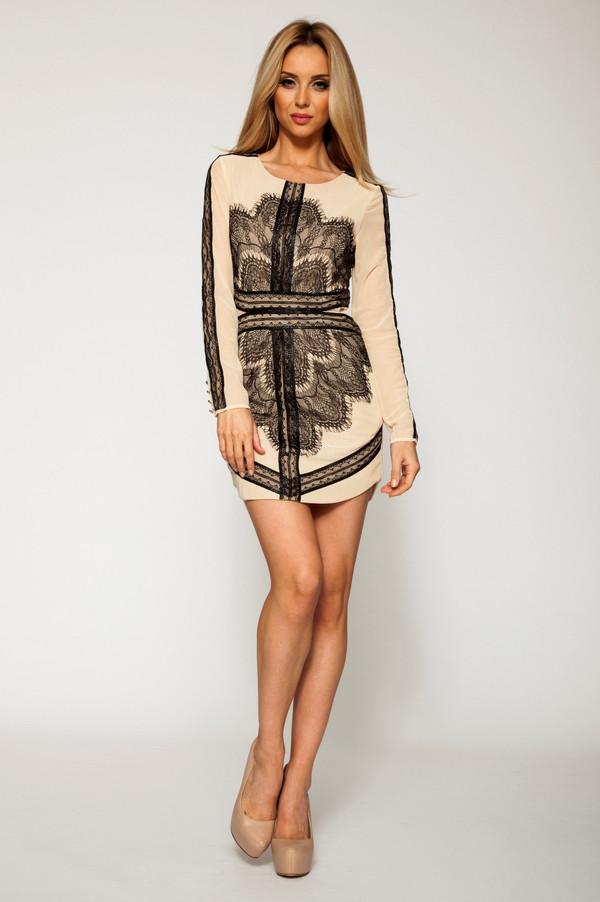 dress ustrendy ustrendy dress nude and black nude and black lace dress lace overlay lace dress