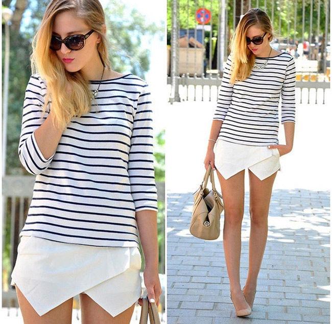 Hot Women Shorts Wrap Mini Skirts with Invisible Zipper Irregular Skort O | eBay