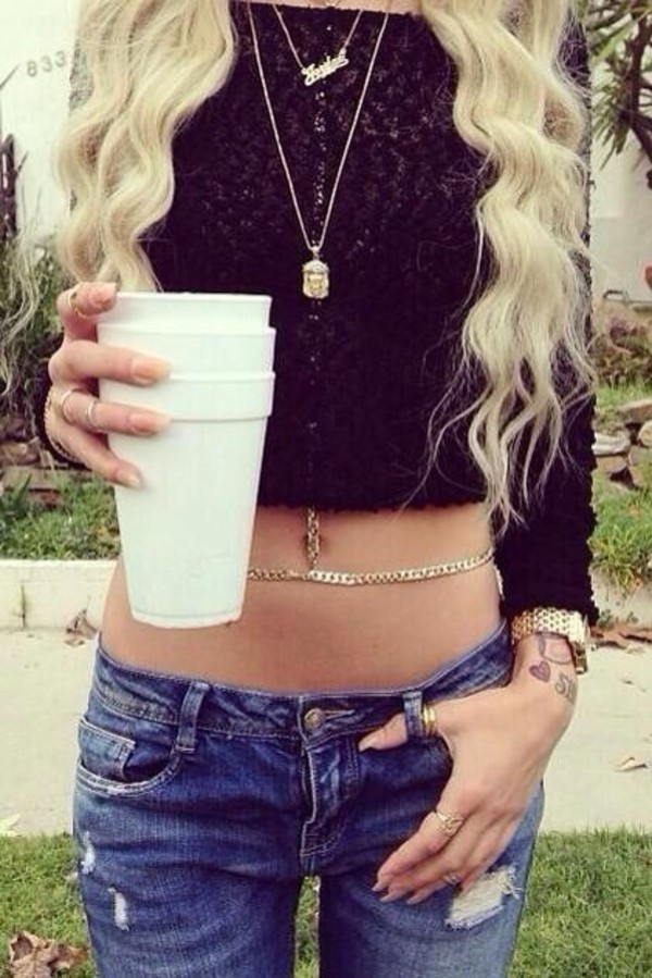 jewels lil debbie chain body chain ring shirt jewelry necklace gold gold necklace