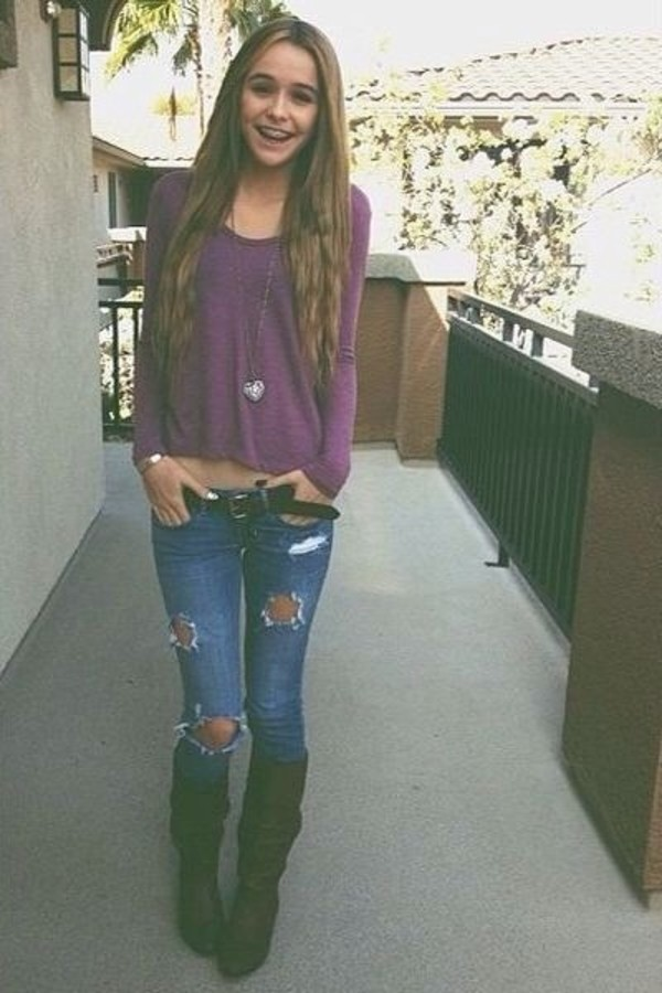 sweater acacia brinley belt jeans shoes