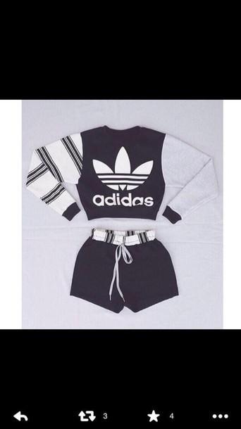 shorts adidas sweater