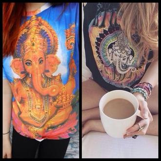 t-shirt hindu god religion indian ganesha ganesh
