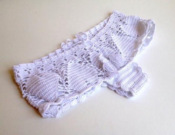 swimwear shorts lace crochet shorts white white beach beach shorts sexy sexy shorts swimsuit 2014 bikini bikini bottoms