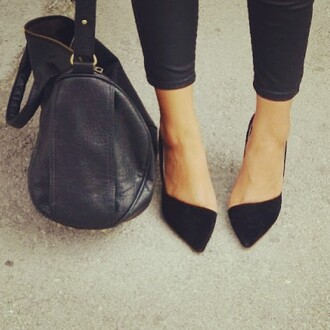 shoes louboutin pigalle curve cut point heels bag black flats