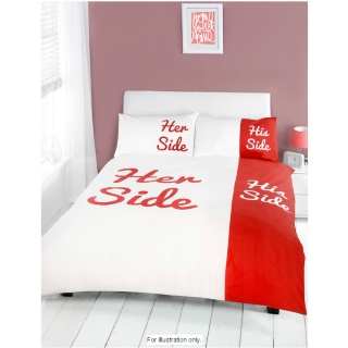 B&M Stores: Products > His & Her Side Double Duvet Set - 287047