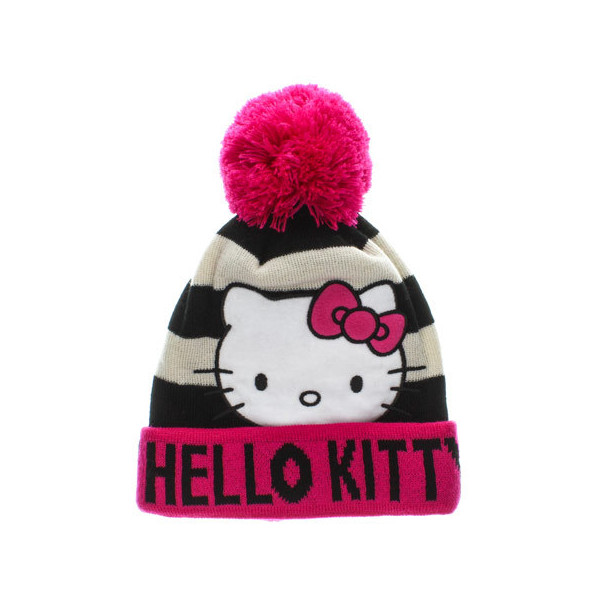 Hello Kitty Beanie Hat - Polyvore