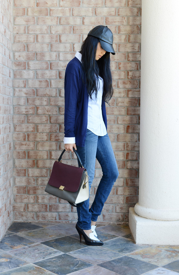 behind the seams sweater blouse jeans shoes bag