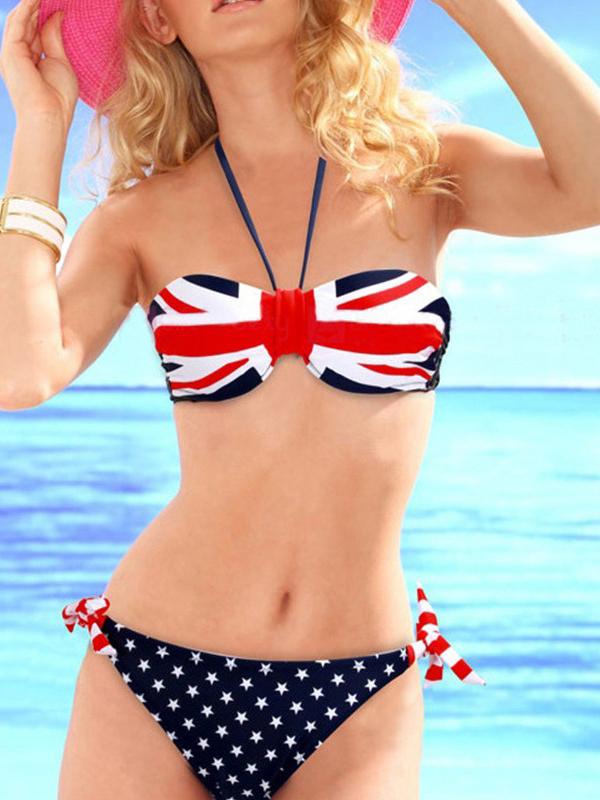 Strapless Bandeau Polka Dot Fashion Bikinis : KissChic.com