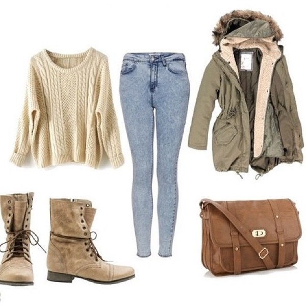 coat Khaki coat khaki parka parka faux fur jacket fur hood sweater jeans bag shoes