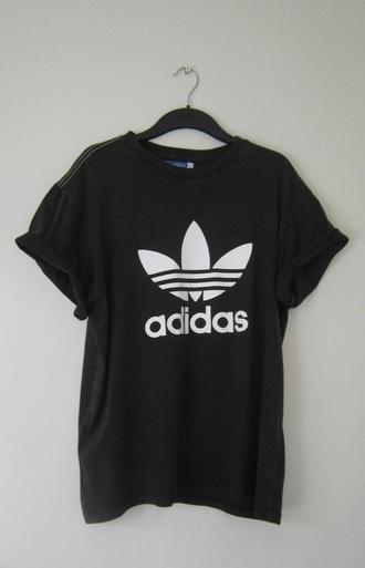 shirt adidas black menswear black t-shirt