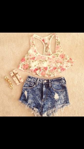 shirt cute crop top