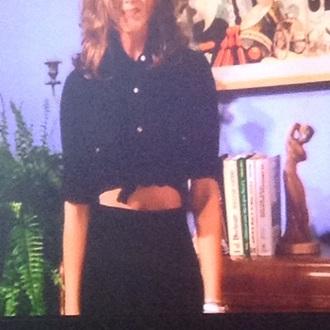 blouse rachel short skirt 90s style style fashion friends tv show black grunge dark