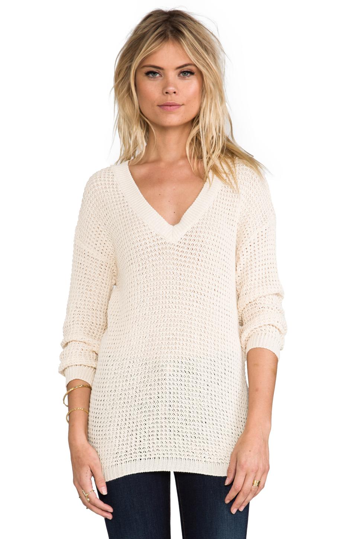 ANINE BING Knit Sweater in Beige   REVOLVE