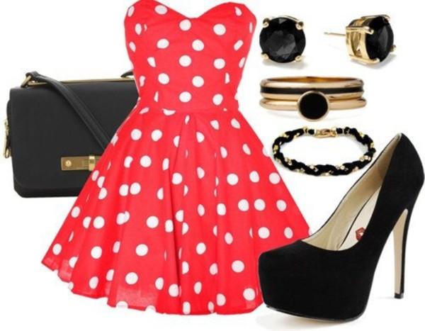 dress red dress red polka dot dress