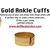 Ankle Cuff Bracelets (AS SEEN IN NOTEBOOK) - ✰ ☮ ✝ Dollface London Online Jewellery Boutique ✝ ☮ ✰
